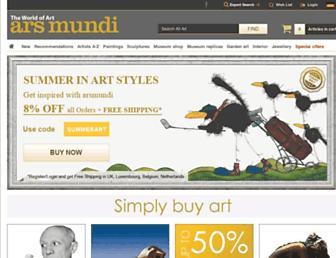 Main page screenshot of arsmundi.de