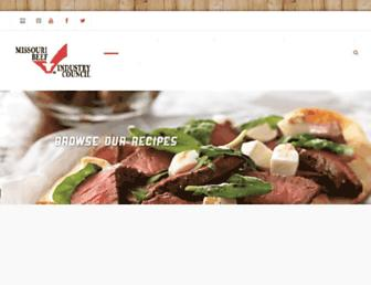 Main page screenshot of mobeef.org