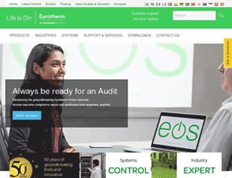 eurotherm.com screenshot