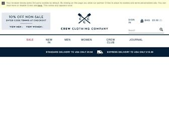 Main page screenshot of crewclothing.co.uk