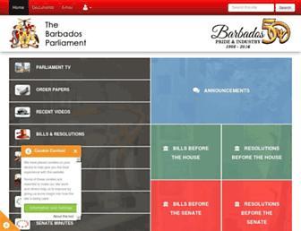 barbadosparliament.com screenshot