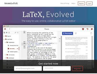 sharelatex.com screenshot