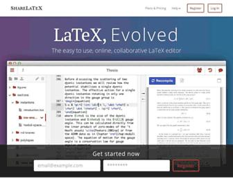 Thumbshot of Sharelatex.com