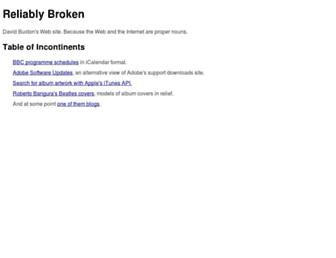 reliablybroken.com screenshot