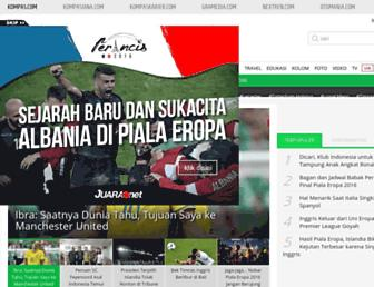bola.kompas.com screenshot