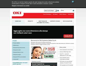 Main page screenshot of oki.it