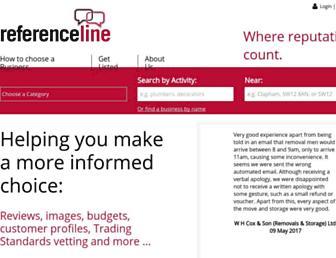 referenceline.com screenshot