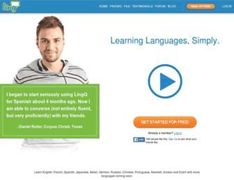 lingq.com screenshot