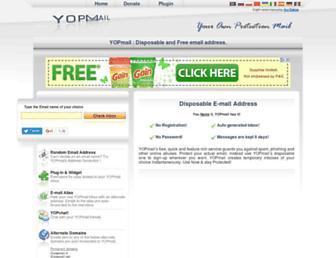 Thumbshot of Yopmail.com