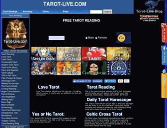tarot-live.com screenshot