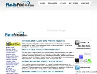 Main page screenshot of plasticprinters.org