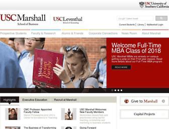 marshall.usc.edu screenshot