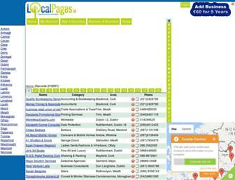 localbusinesspages.ie screenshot