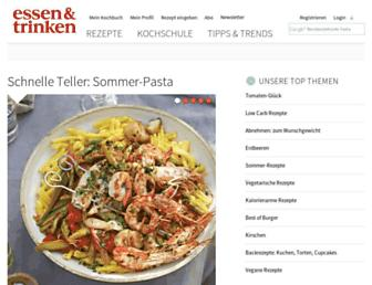Main page screenshot of essen-und-trinken.de