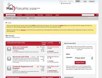 mac-forums.com screenshot