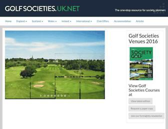 Main page screenshot of golfsocieties.uk.net