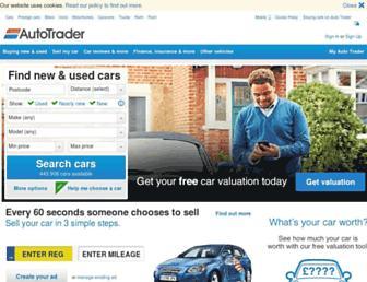Main page screenshot of autotrader.co.uk