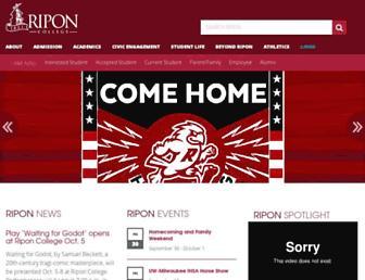 ripon.edu screenshot