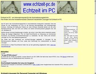 Main page screenshot of echtzeit-pc.de