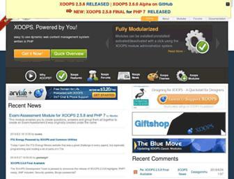 Main page screenshot of xoops.org