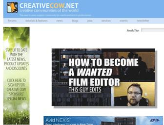 Main page screenshot of creativecow.net