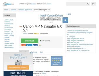 canon-mp-navigator-ex.updatestar.com screenshot