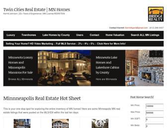 Main page screenshot of realestatetwincities.net