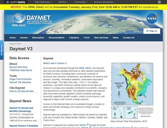 daymet.ornl.gov screenshot