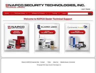 tech.napcosecurity.com screenshot