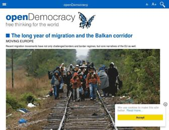 Main page screenshot of opendemocracy.net