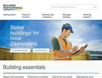 building.govt.nz screenshot