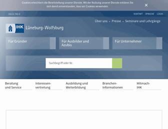 ihk-lueneburg.de screenshot