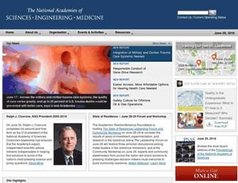 Main page screenshot of nationalacademies.org