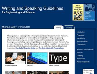 writing.engr.psu.edu screenshot