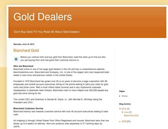 Main page screenshot of gold-dealers.goldprice.org