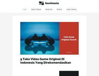 gaminesia.com screenshot