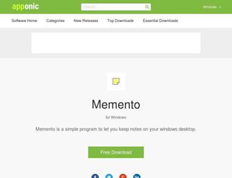memento.apponic.com screenshot