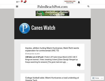 caneswatch.blog.palmbeachpost.com screenshot
