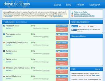Thumbshot of Downrightnow.com