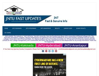 jntufastupdates.com screenshot