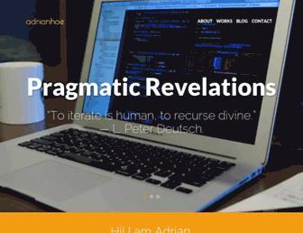 adrianhoe.com screenshot