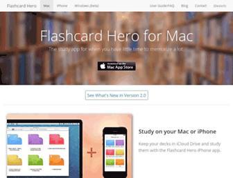 flashcardhero.com screenshot