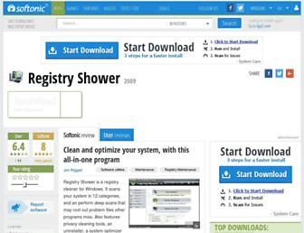 registry-shower.en.softonic.com screenshot