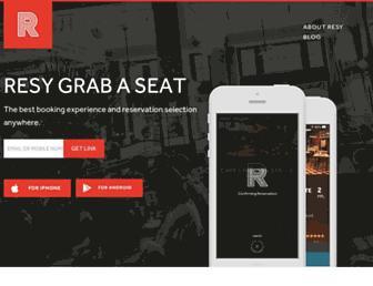 resy.com screenshot