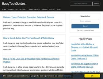 easytechguides.com screenshot