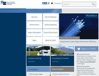 qldc.govt.nz screenshot
