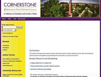cornerstone.lib.mnsu.edu screenshot
