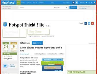 hotspot-shield-elite.en.softonic.com screenshot