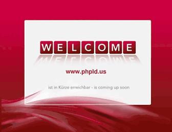 Main page screenshot of phpld.us