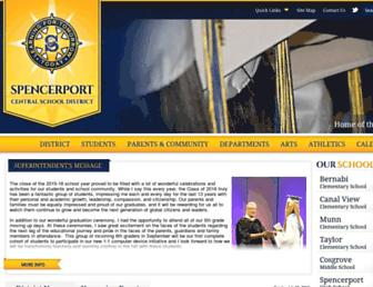 Main page screenshot of spencerportschools.org